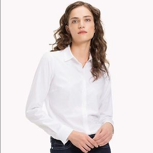 Tommy Hilfiger White Blouse/Button Down